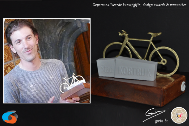 Award geprint in 3D - design award - unieke sporttrofee